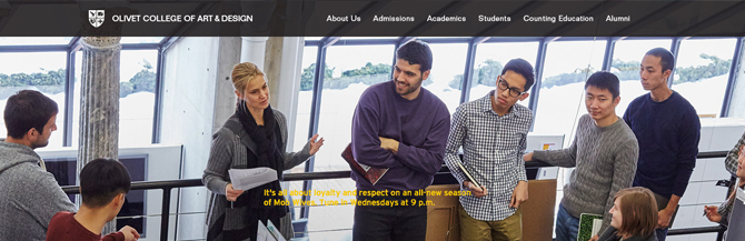 Art and Design College Launching New Website